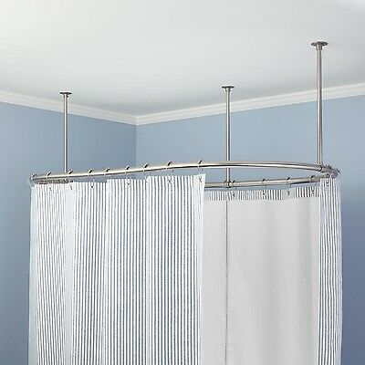 Naiture Brass Oval Shower Curtain Rod In 8 Sizes and 4Finishes