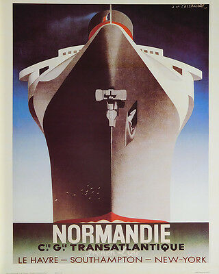 (LAMINATED) Normandie POSTER (40x50cm) French Vintage Travel New Licensed Art