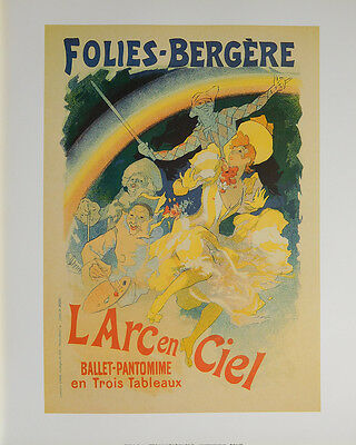 (LAMINATED) FOLIES BERGERE BALLET POSTER (40x50cm) FRENCH VINTAGE NEW LICENSED A