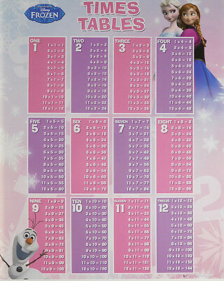 FROZEN TIMES TABLES POSTER (40x50cm) EDUCATIONAL NEW LICENSED ART