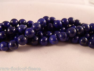 NATURAL LAPIS LAZULI BLUE LOOSE GEMSTONE ROUND STONE JEWELLERY MAKING BEADS 6mm