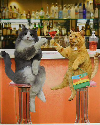 (LAMINATED) Cats Cocktail Party POSTER (40x50cm) New Licensed Art