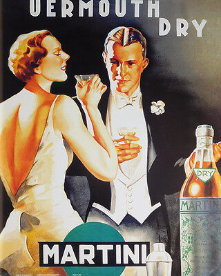 (LAMINATED) Vermouth Dry POSTER (40x50cm) Vintage Alcohol New Licensed Art