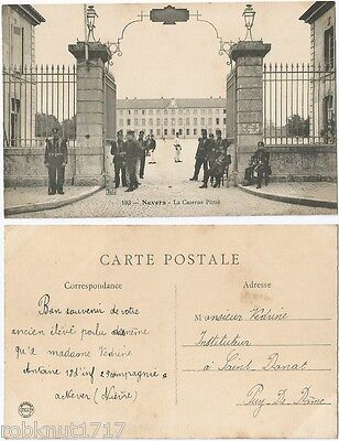 CPA postcard militaries portail La Caserne Pittié NEVERS 58 Nièvre [750 A]