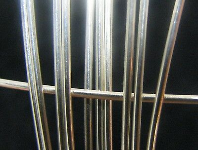 935 Argentium Sterling Silver ROUND Wire 19 Gauge 1 FOOT 100% Recycled Metal USA