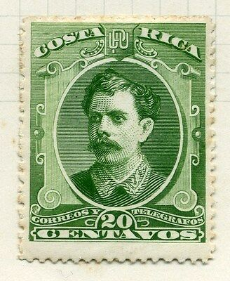 COSTA RICA;   1889 early classic Soto issue Mint hinged 20c. value