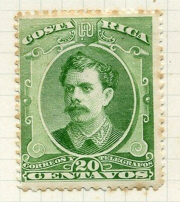 COSTA RICA;   1889 early classic Soto issue Mint hinged 20c. value ( tone spots
