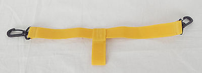 "25mm ( 1"" ) Wide Golf Cart Bottom Bag Strap Replacement - Yellow color"
