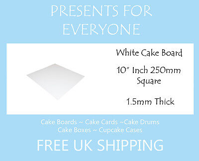 "25 x 10"" Square White Cake Board FREE SHIPPING"