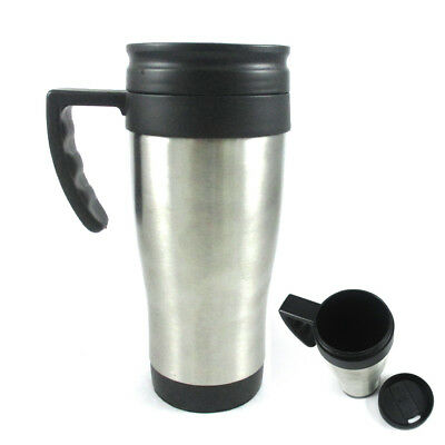 Stainless Steel Insulated Double Wall Travel Coffee Tea Mug Cup 16 Oz Thermos !!