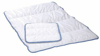 Alvi Steppbett Set Kochfest Bettdecke Set 80x80 cm / 35x40 cm