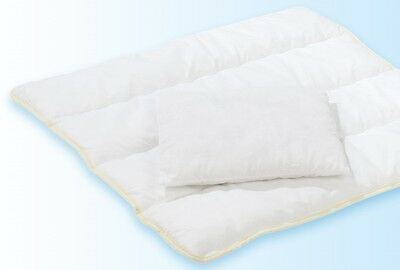 Alvi Steppbett Set Thermovlies Bettdecke Set 80x80 cm / 35x40 cm