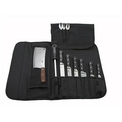 Winco KBG-10, 10-Piece Black Cutlery Knife Bag