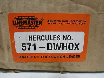 Linemaster Footswitch 571-Dwhox *new In Box*