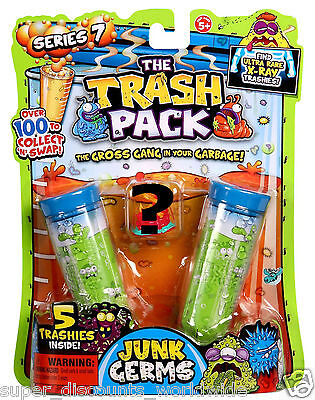 NEW Trash Pack 5 Trashies Junk Germs Series 7  Look for Ultra Rare X-ray RANDOM