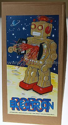 ELECTRON ROBOT D CELL CLASSIC PURPLE  RETRO COLOUR CHOICE TIN TOY  Tinplate