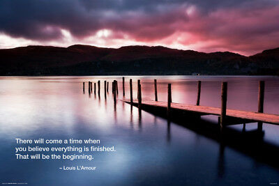(LAMINATED) Wharf Jetty Sunset POSTER (61x91cm) Quote Landscape New Licensed Art