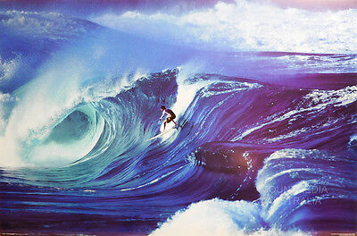 SURFING BIG TUBE WAVES POSTER (91x61cm)  NEW LICENSED ART