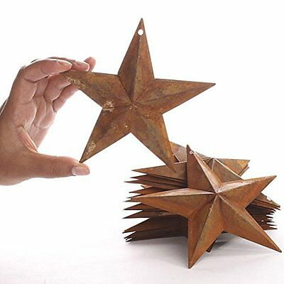 "2pc 5.5"" Rust Metal Star"