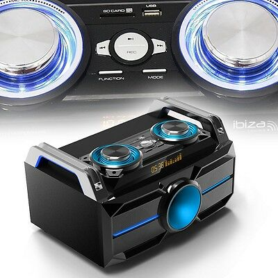 Musik Box Stereo Party Audio System Bluetooth DJ USB SD MP3 REC Anlage 120W LED