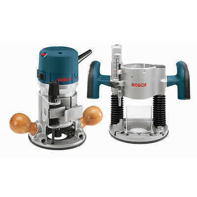 Bosch Tools 2.25 HP Combination Plunge & Fixed-Base Router Pack 1617EVSPK New