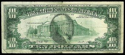 1977 United States $10 Federal Reserve 95% Offset Error Note Condition Fine