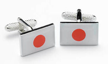Japanese Flag Cufflinks Japan cuff links  NEW IN GIFT BOX  10775