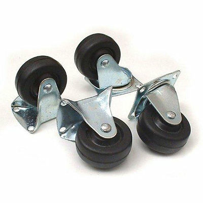 4 Piece Castor Wheel Set Fixed And Swivel For Cabinet Table Moving Removal