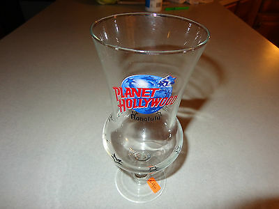 "Planet Hollywood ""Honolulu"" Hurricane  18 oz  Footed Glass -8.25"" Tall-VGC"