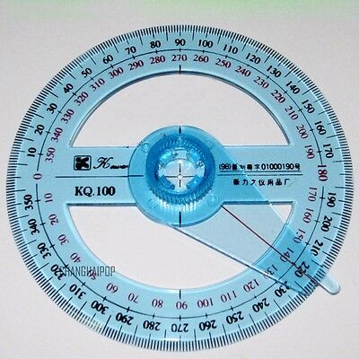 FD4820 Plastic 360 Degree Protractor Ruler Angle Finder Swing Arm School Office♫
