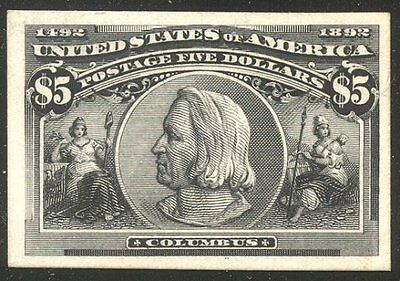 U.S. #245P4 CHOICE VF - 1893 $5.00 Columbian