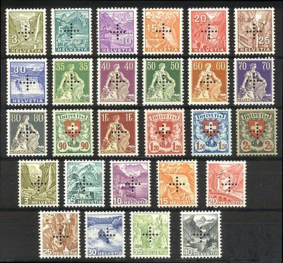 SWITZERLAND 1935 Officials with Perforated Cross
