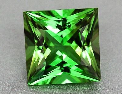 Tsavorite Garnet - Unheated and Untreated - Princess Cut
