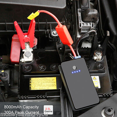 12000mah Portable Auto Car Jump Starter Booster Chargeur Batterie LED Power Bank