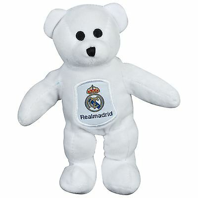 Real Madrid Solid Bear Teddy Beanie Toys Official Football Soccer Baby Kid White