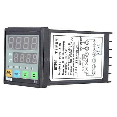 Digital Timer Countdown Time Counter Panel Meter Alarm Relay Output HH4-4RN P0IR