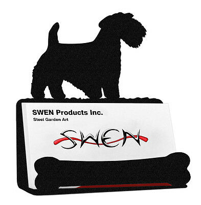 Sealyham Terrier Dog Black Metal Business Card Holder