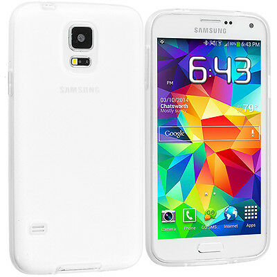 Thin Clear TPU Soft Silicone Case Cover for Samsung Galaxy S5