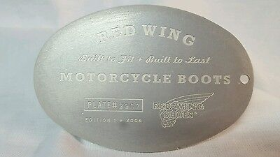 Red Wing Shoes Motorcycle Boots Kickstand Plate # 2907 Edition 1