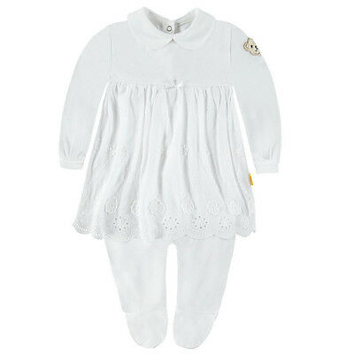 STEIFF Baby Strampler-Kleid SPECIAL DAY 6632901 Taufe Outfit DELUXE Gr.56 62 68