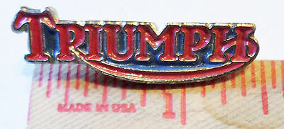 Vintage Triumph logo pin British motorcycle collectible biker vest hat pinback