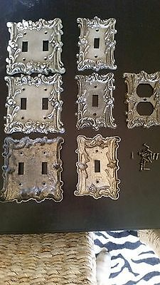 Vintage EDMAR Light Switch Plate Outlet Covers & Screws, Ornate Rose  Lot of 7
