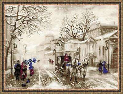 """Counted Cross Stitch Kit RIOLIS - """"Old Street"""""""