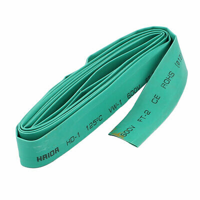 2M Length Electric Wire Cable Heat Shrink Tubing Tube Wrap Sleeve Green