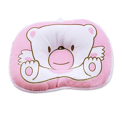 Cute Bear Pattern Pillow Newborn Support Cushion Pad Prevent Flat Head - Pink