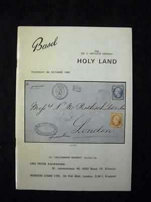 ROBSON LOWE AUCTION CATALOGUE 1969 HOLY LAND ' Dr C HEYGATE VERNON' COLLECTION