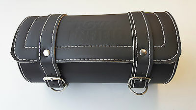 Royal Enfield Tool Kit Roll Luggage Carrier Logo Bag Bullet Motorcycle  - Black