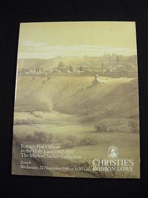 Christies Lowe Auction Catalogue 1989 Foreign Post Offices In Holy Land 'sacher'