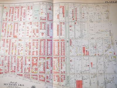 Brooklyn, NY atlas map - Original - Bromley 1908 - plate 26 - linen Crown Height