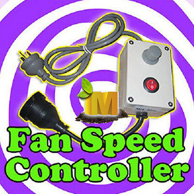 Grow Light Tent Fan Speed Controller for hydroponics Duct fan ventilation system